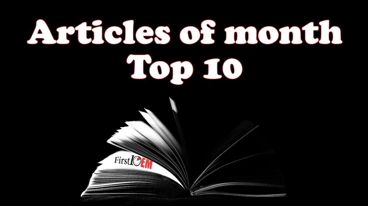 First10EM year in review top 10 articles of the month