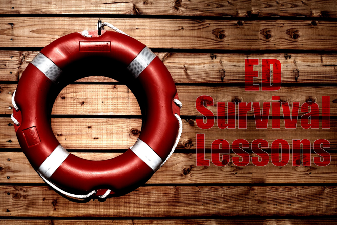 ED survival lessons First10EM title art