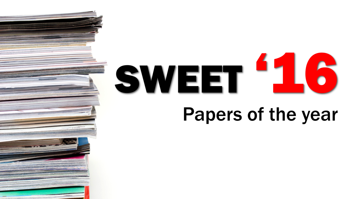 Sweet 16 (papers of the year for NYGH EMU 2017)